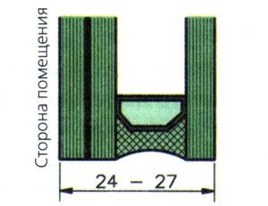 Раскладку для эле¬ментов остекления, а также рейки для фиксации филенок крепят с внутренней стороны винтами 4,5 х 45 мм.