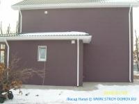 Коттедж №3 в г.Находка отделка фасада алюминиевыми сайдинг панелями HANYI (рис.2)