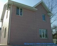 Коттедж №3 в г.Находка отделка фасада алюминиевыми сайдинг панелями HANYI (рис.3)